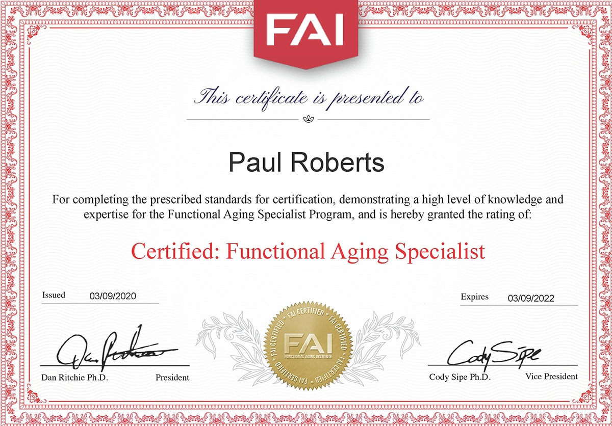 Functional Aging Specialist Optimized