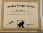 Starting Strength Seminar Certification