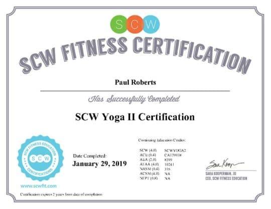 Level II Certificate SCW
