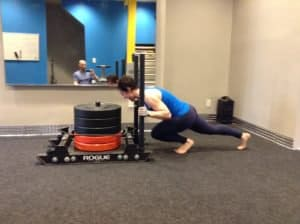Dawn Rogue Fitness Sled Push