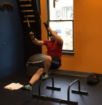 Parallette Pistol Squat with TRX