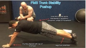 FMS Trunk Stability Pushup
