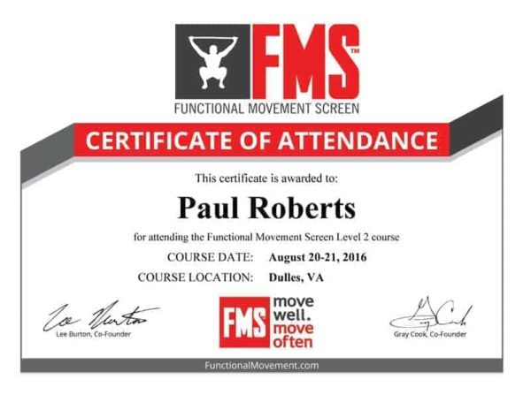 FMS Functional Movement Screen Level 2