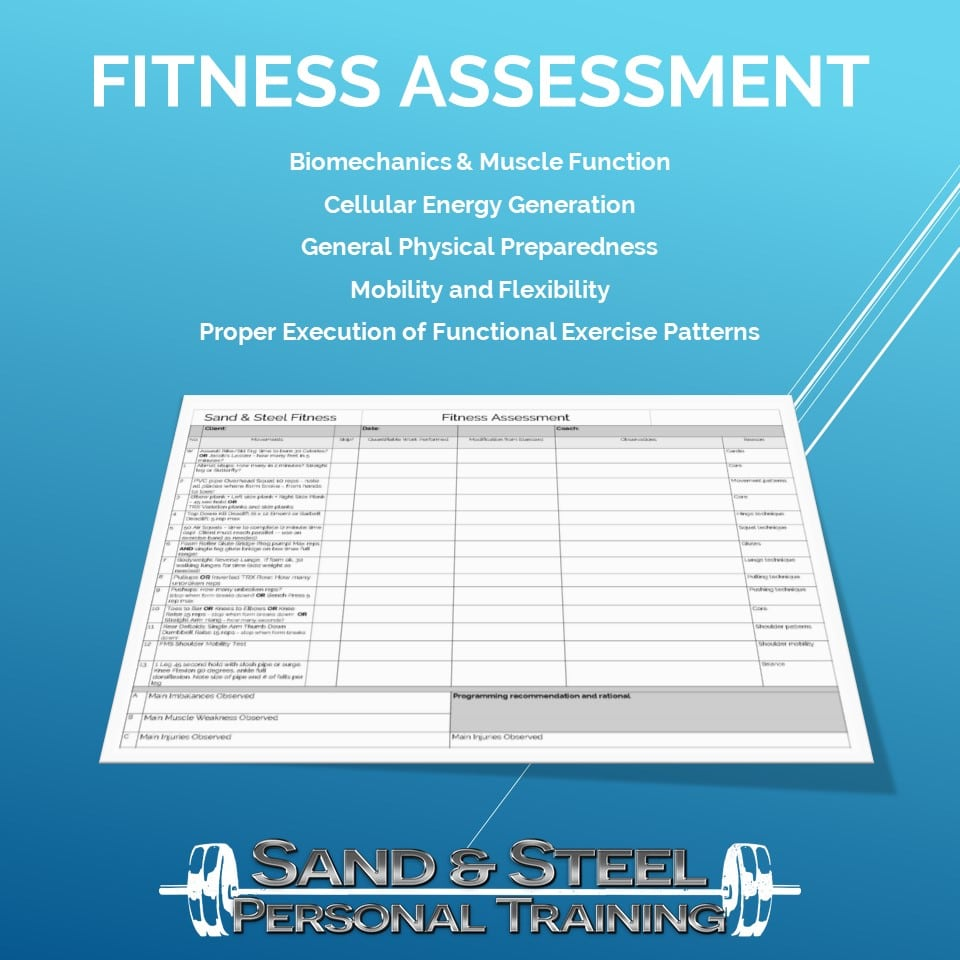 Fitness Assessment Sand And Steel Fitness Fitness assessments are available starting august 17th 2020 the microfit® fitness assessment is the latest in total body fitness assessment. fitness assessment