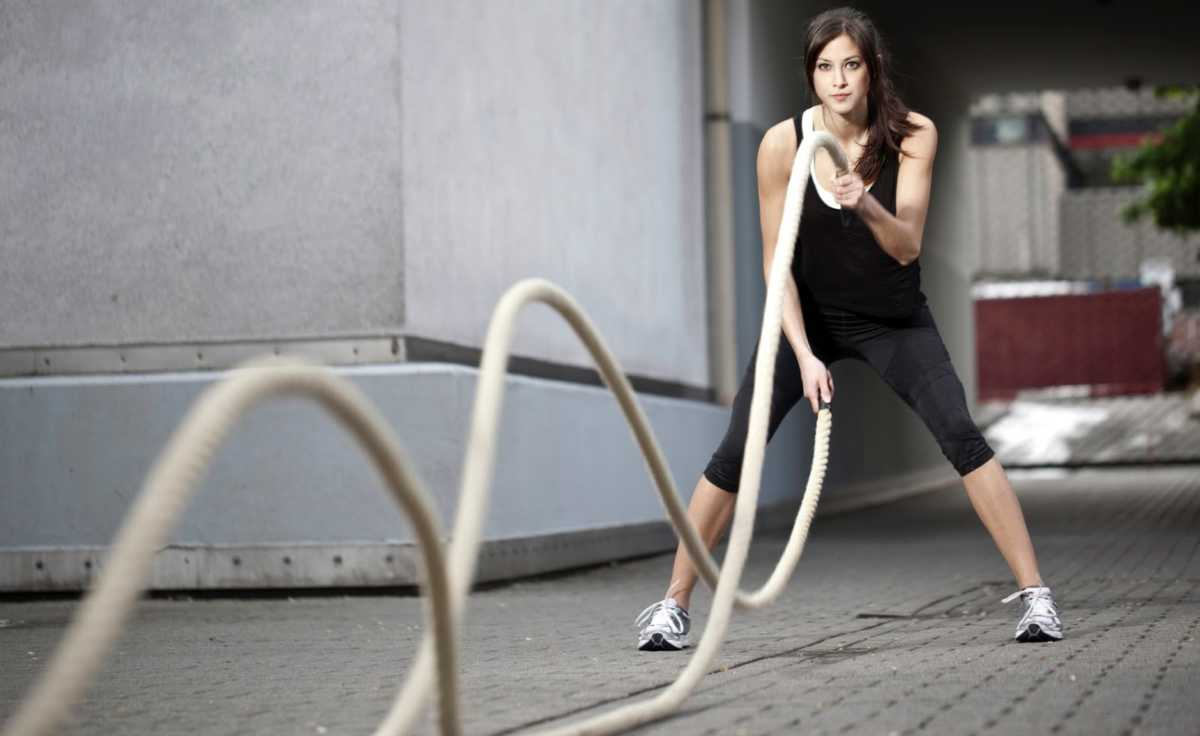 Battle Rope Conditioning Workout