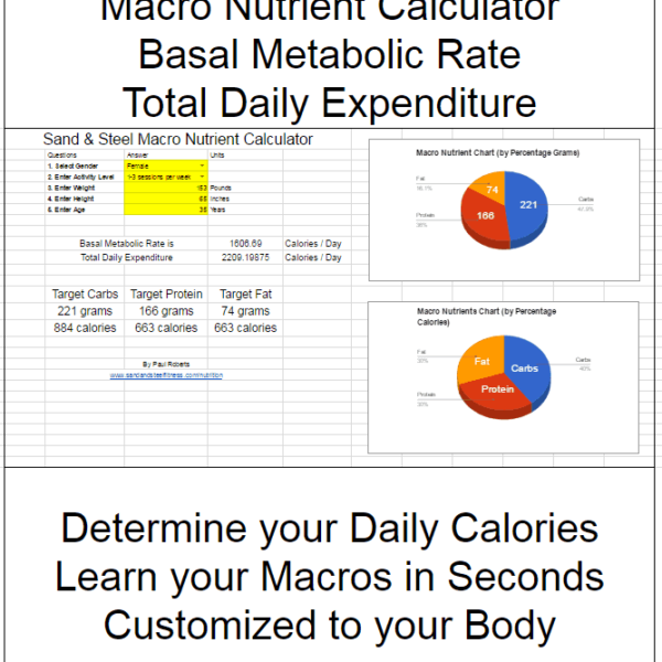 Macro Nutrient Calculator Macro Nutrient Calculator Basal Metabolic Rate Total Daily Expenditure