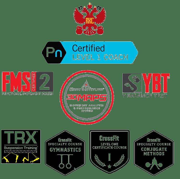 Paul Certifications - Sand & Steel Fitness
