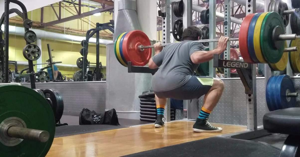 Powerlifting Back Squat Stength