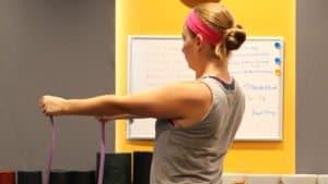 Band Pull Apart, Shoulders, Warmup Exercises