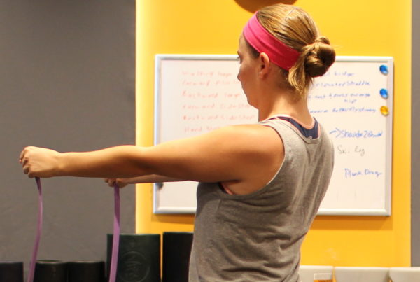 Band Pull Apart, Shoulders, Warm Up Exercises
