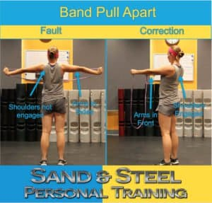Band Pull Apart Beginner Warm Up Infographic