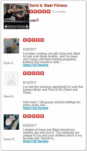 Personal Training Reviews Yelp