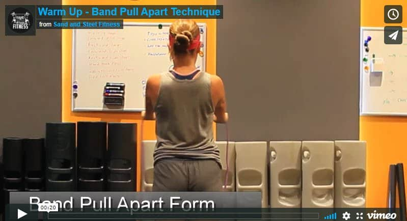 Band Pull Apart Beginner Warmup