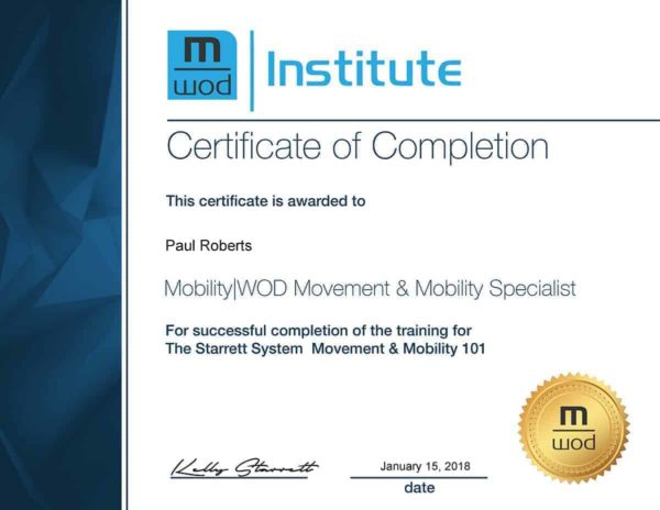 M|WOD MWOD MobilityWOD Movement and Mobility Specialist Certification