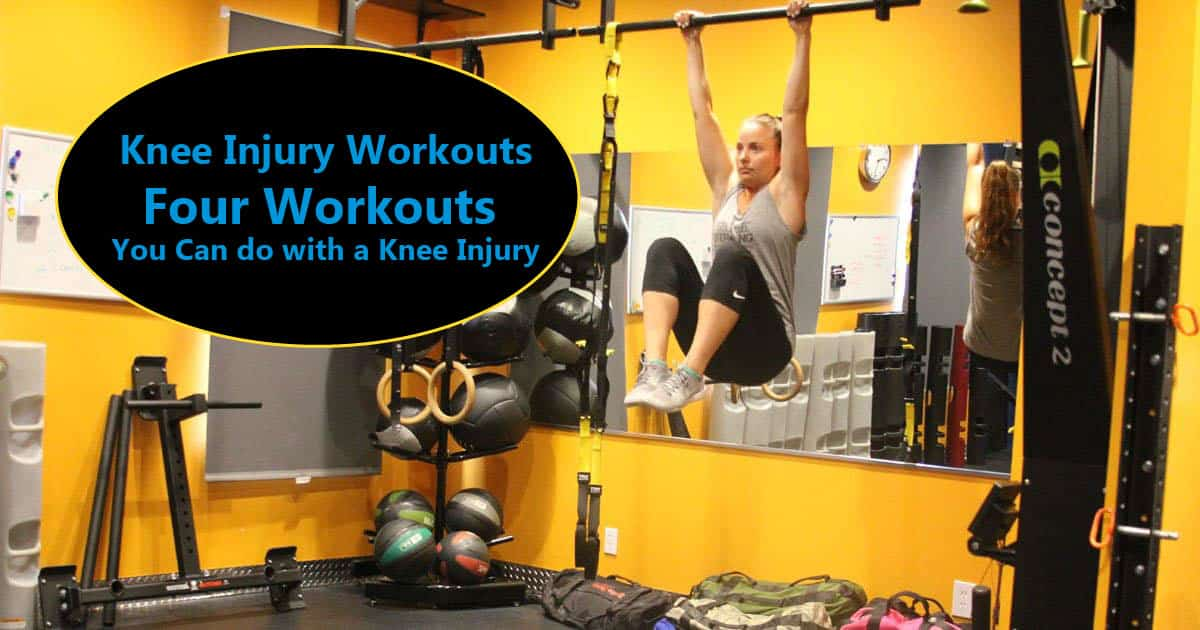 Knee Injury? Here's 4 Workouts and Video to Stay in Shape