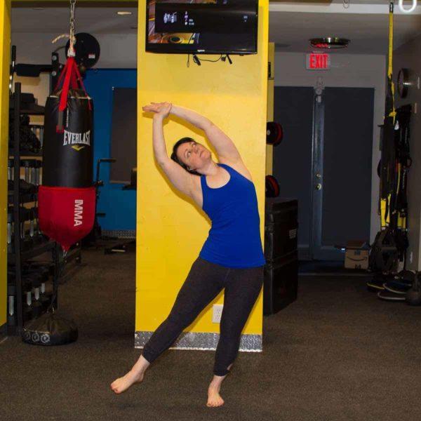 One-legged Standing Crescent Pose – Eka Pada Indudalasna