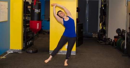 One-legged Standing Crescent Pose - Eka Pada Indudalasna - Private Yoga Lessons