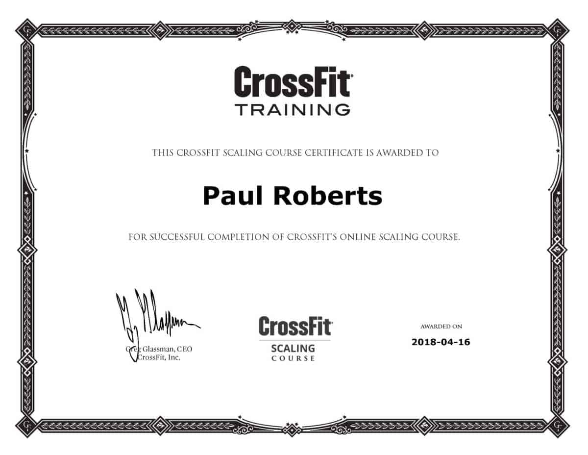 Crossfit Scaling Course Review And Certification By Paul Roberts