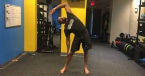 Swaying Palm Tree Pose - Tiryak Tala-Vrikshasana (front) Private Yoga Lessons