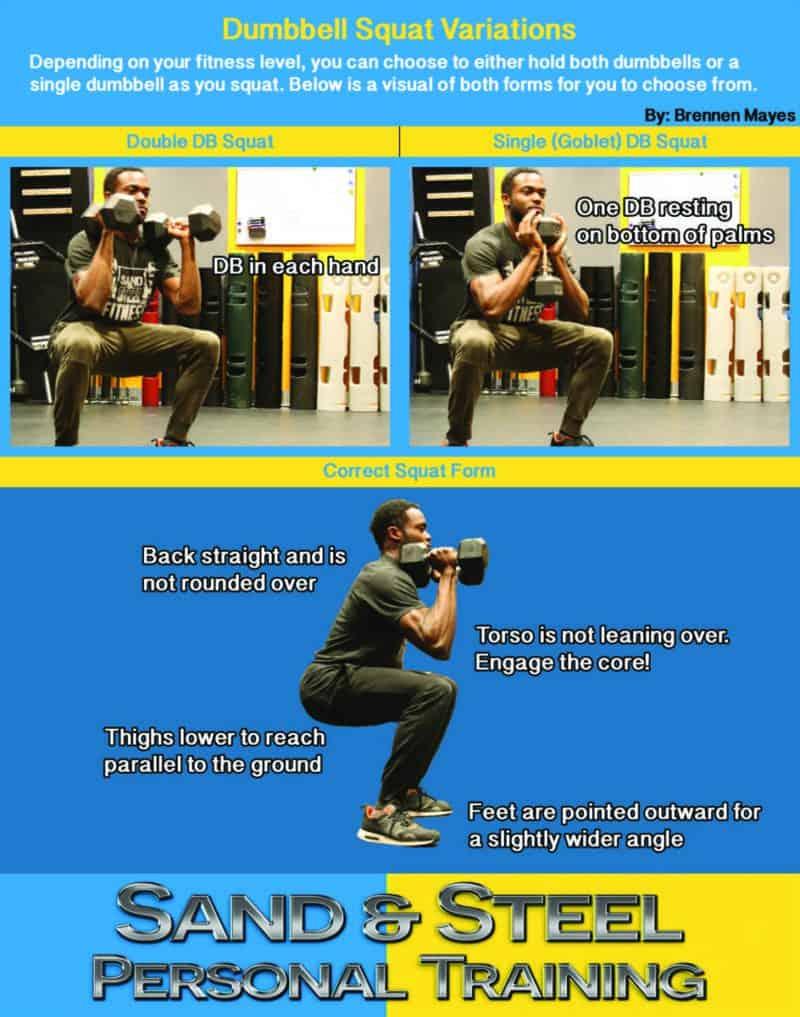 Dumbbell Squat Infographic