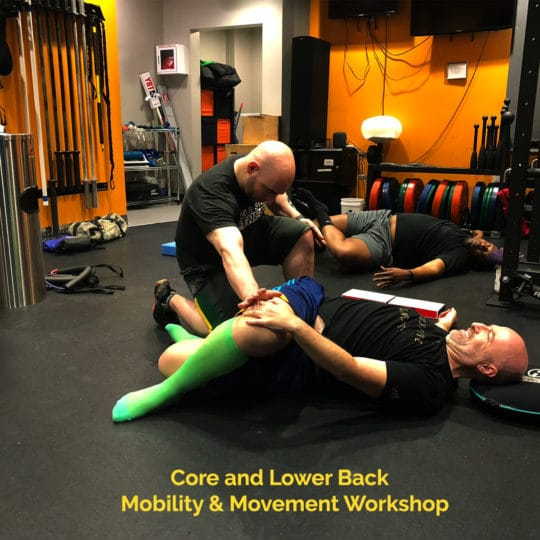 Core and Lower Back. Mobility & Movement Worshop Square
