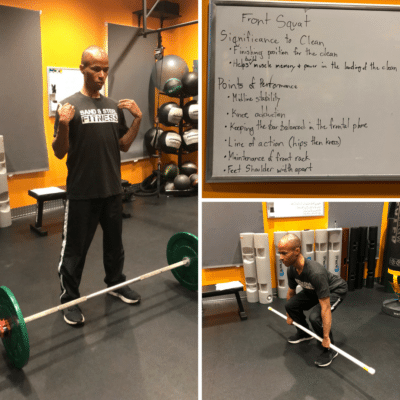 Barbell Power Clean Receiving Position