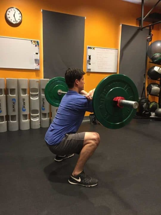 Front Squat Rear View