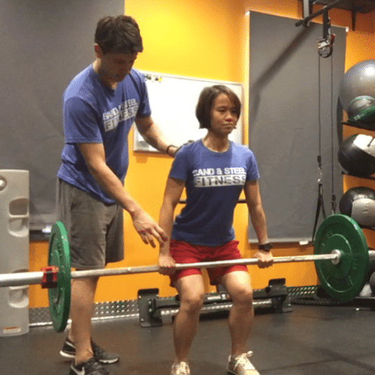 Barbell Power Clean Hang Clean