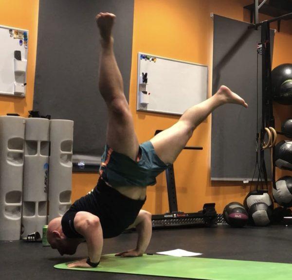 Yoga Ganda Bherundasana - Formidable Face Chin Stand Pose