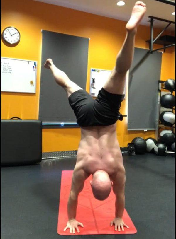 Revolved Handstand Pose