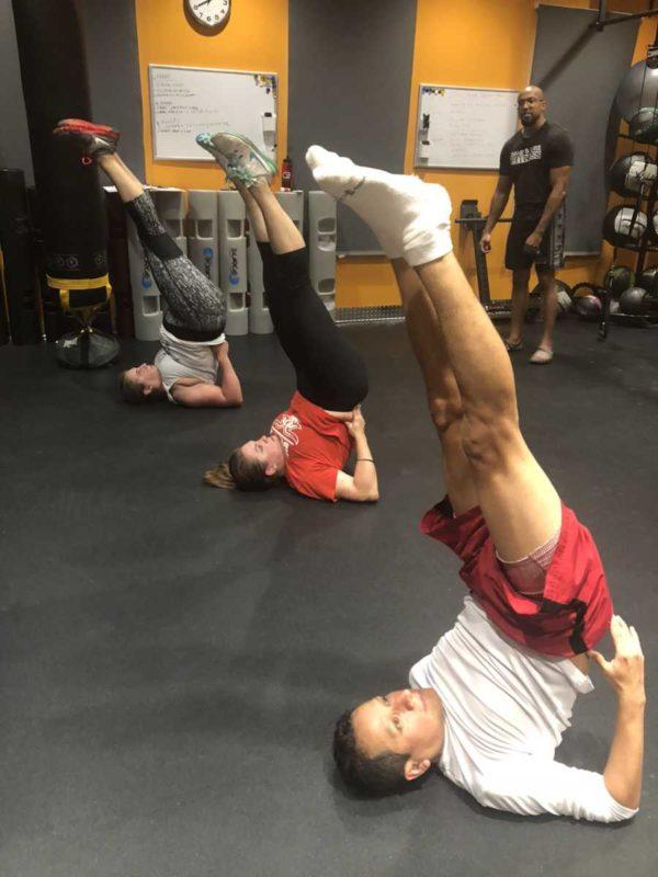 Yoga Class Shoulder Stance Salamba Sarvangasana