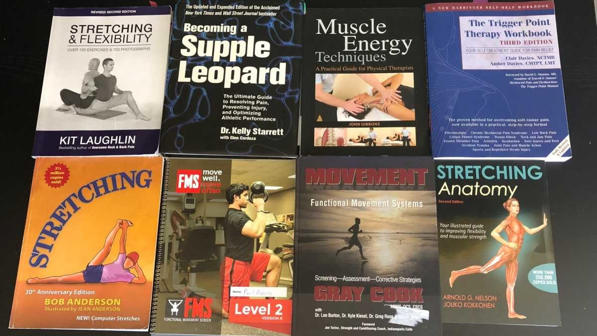 Books on mobility movement stretching flexibility