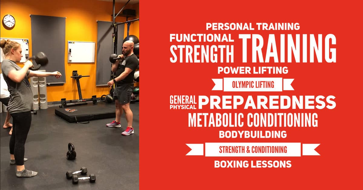 Personal Training, Functional Strength Training, Powerlifting, Olympic Lifting, Boxing Old Town Alexandria VA