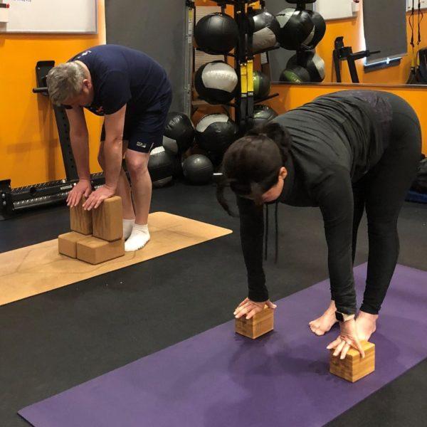Yoga Beginner - Uttasana With Block - Forward Fold