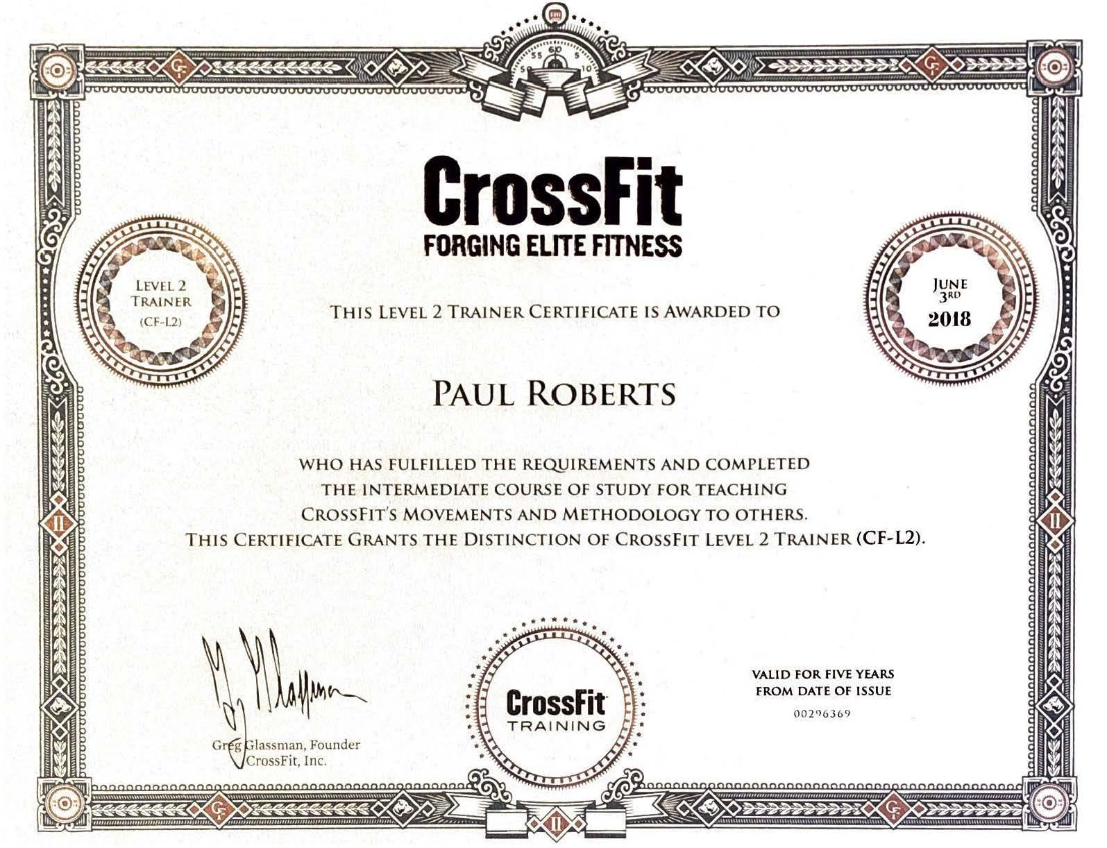 CrossFit Level II Certificate