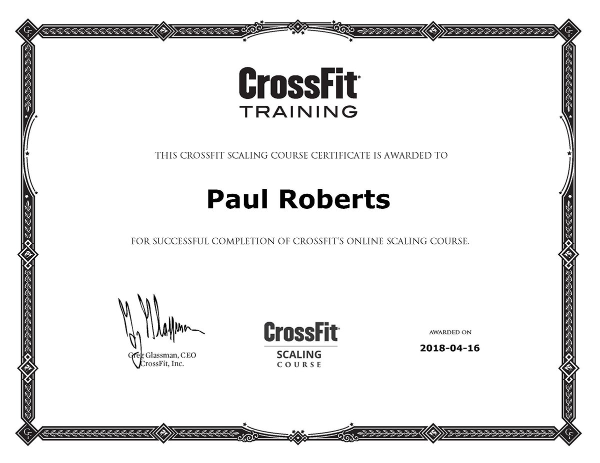 CrossFit Scaling Course Certification