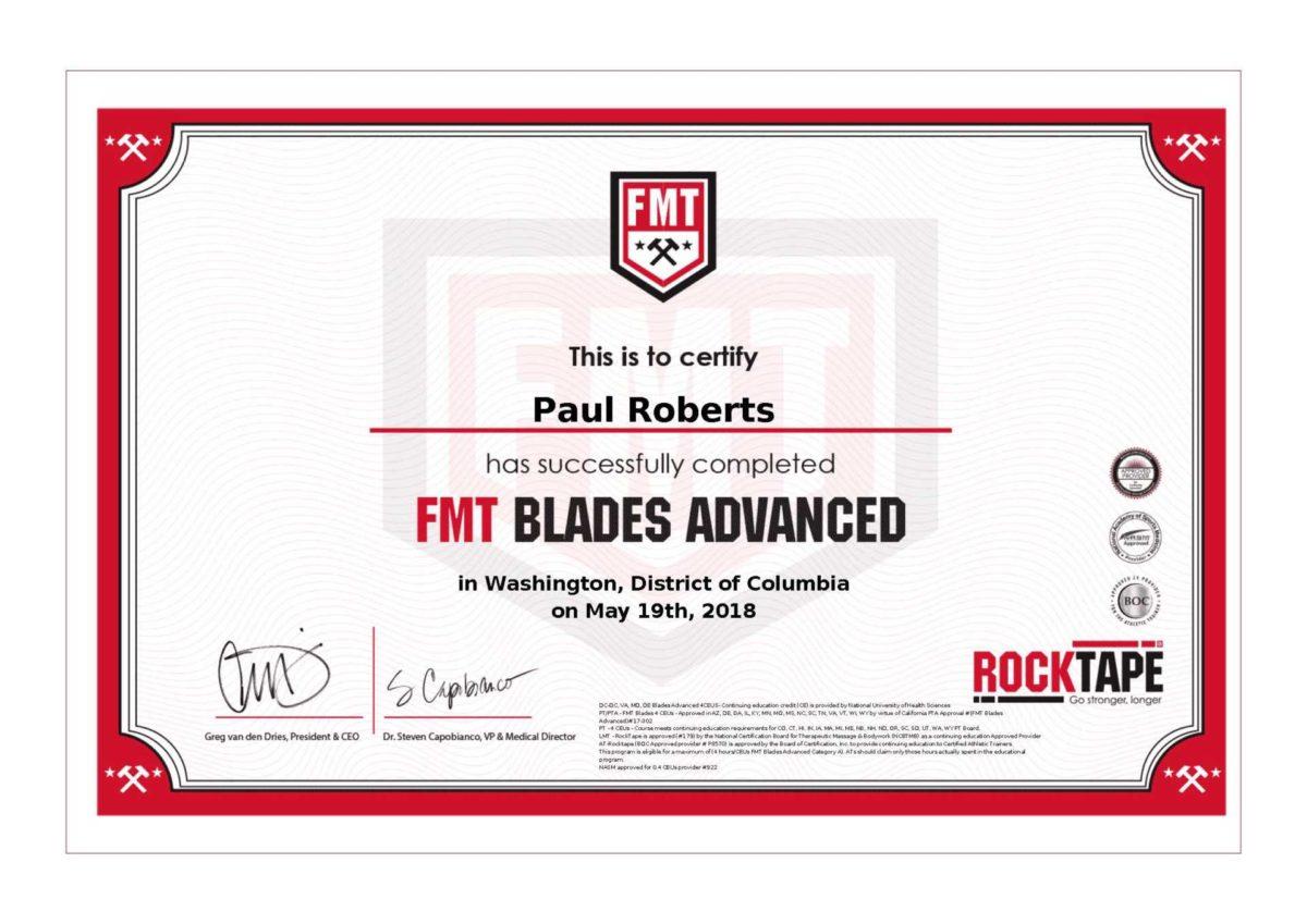 FMT Blades Certification