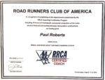 Road Runners Club of America RRCA Certified Coach Certificate