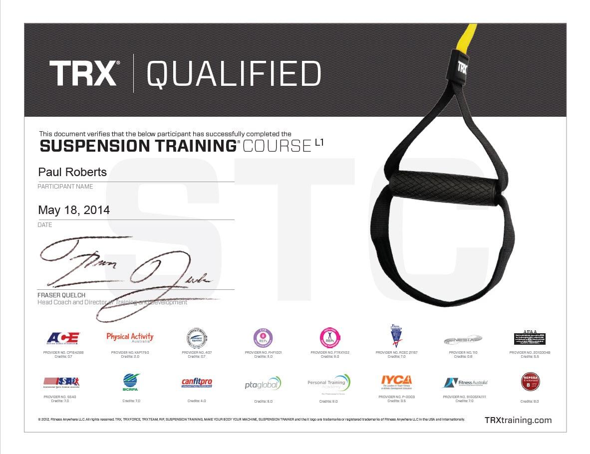 TRX Suspension Trainer Training Certification