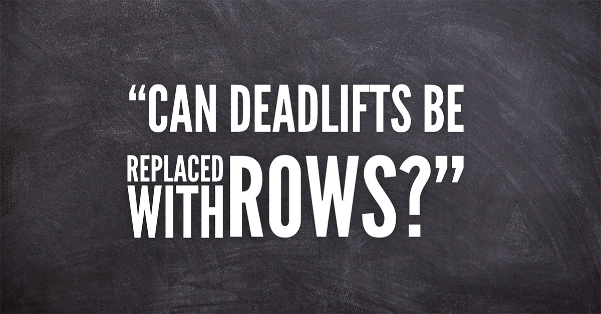 Deadlifts vs Rows