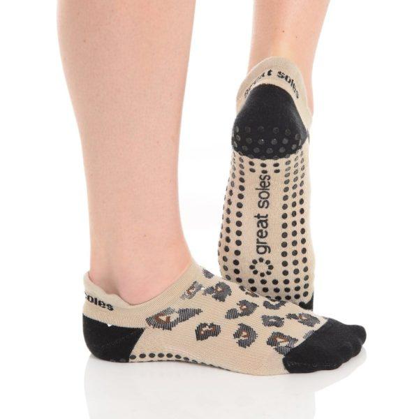 Great Soles Yoga Grippy Socks Leapord