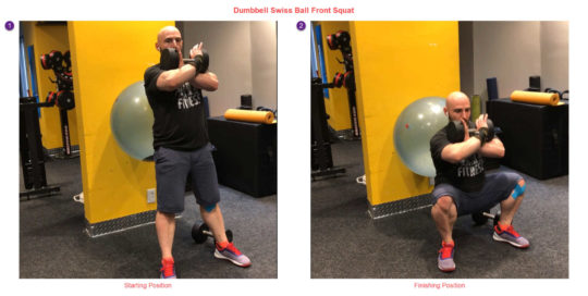 Dumbbell Front Squat with Dumbbell - Therapy for People with Wrist Pain