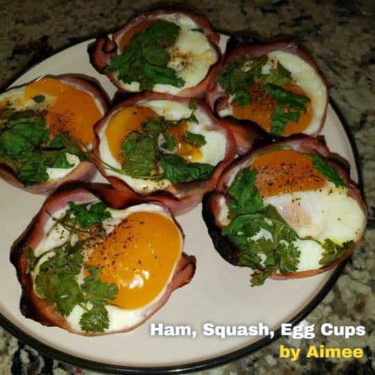 Ham Squash Eggs Cup Recipe