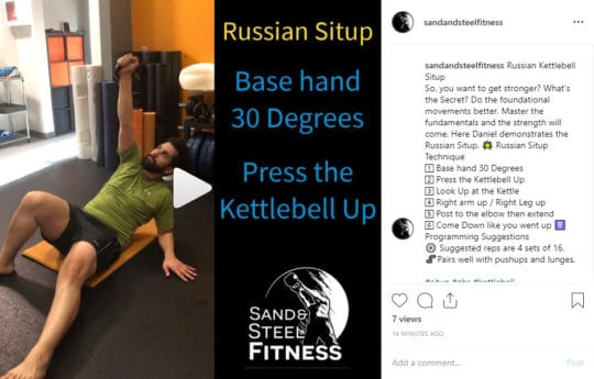 Kettlebell Russian Situp
