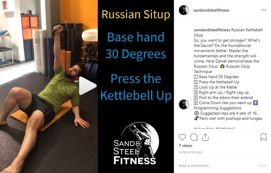 Kettlebell Russian Situp