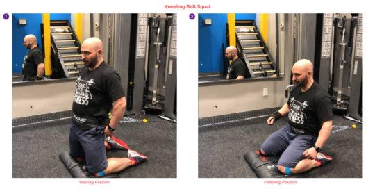 Kneeling Belt Squat - Exercise for Wrist Pain