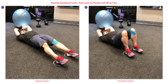 Valslide Hamstring Curl - Exercises for People with Wrist Pain