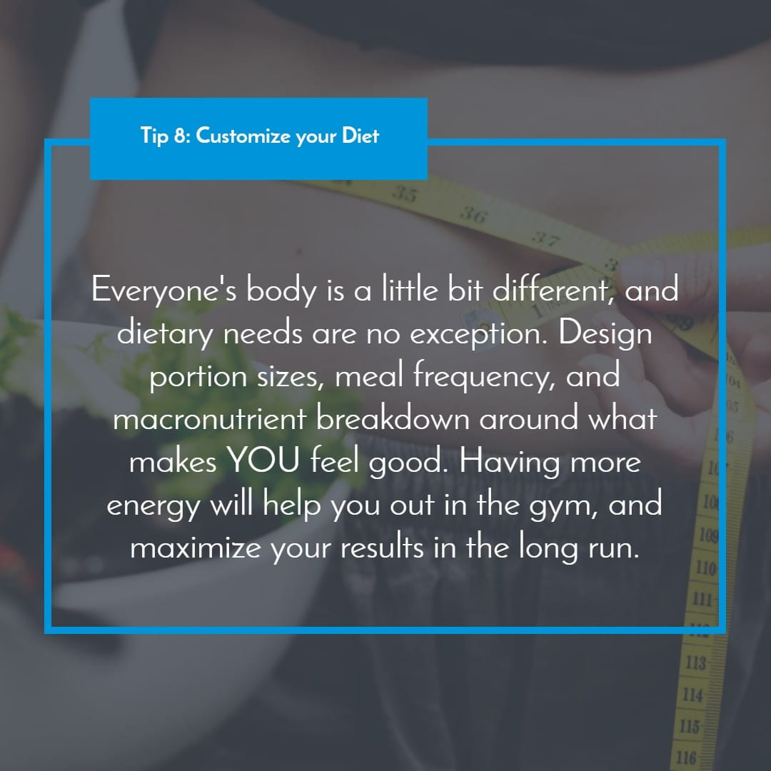 Tip 8_ Customize your Diet