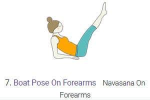Boat Pose on Forearms Navasana