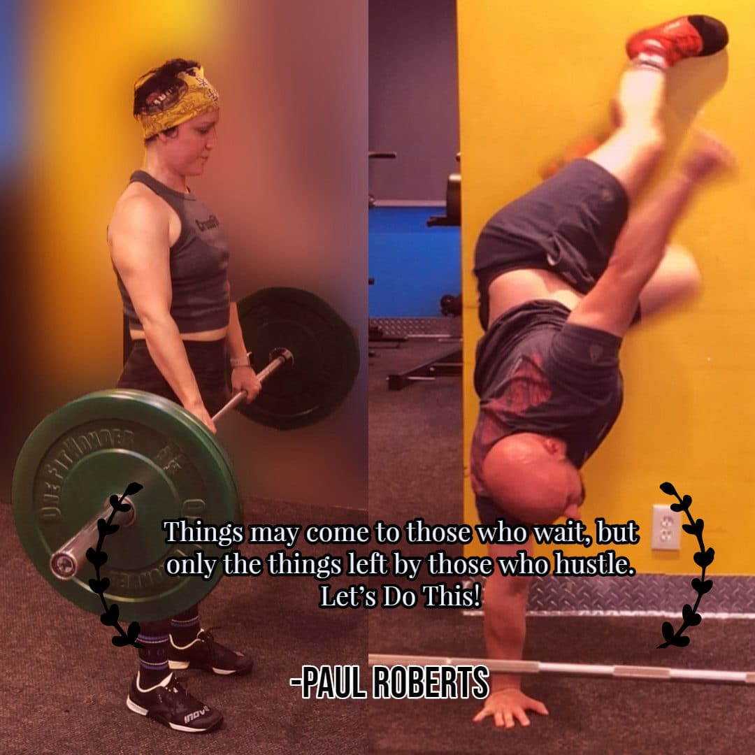 Deadlifts and Shoulder Taps CrossFit Handstand